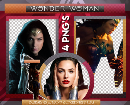 Wonder Woman Pack PNG 001 by Mainif