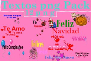 Pack de texto png by Carol05