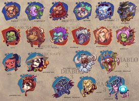 heads of WOW and D3 by breathing2004