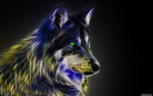 Fractal Wolf by Michalius89