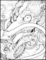 chinese dragon tattoo style by Anarchpeace