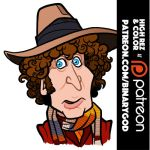 Tom Baker (Doctor Who) by b1naryg0d