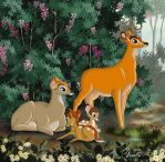 THE FAMILY OF BAMBI by FERNL