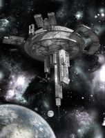 Space Station by kAt-LIkeS-pIE