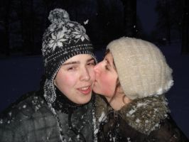 Me and my love in the snow by MBijen