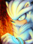 Tegaki: Silver the Hedgehog by nocturnalMoTH
