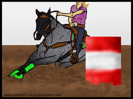 Spanky - EFHS Gymk Barrel Racing by painted-cowgirl