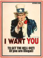 Uncle Sam: Message to Illegals by MetalShadowOverlord