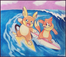 Alolan Rollercoaster Ride by Phoelion