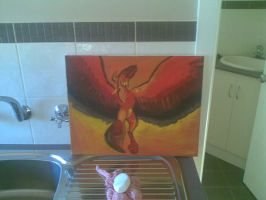 My painting of a phoenix by Fire-Z