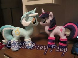 MLP Twilight sparkle and lyra Plushie by Little-Broy-Peep