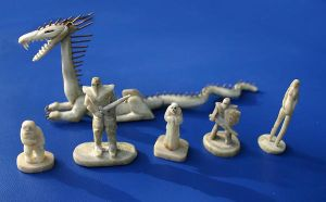 carved bone antler figurines by tzum