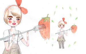 strawbree stab by perfectnoseclub