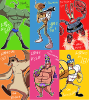 spongebob the heros! by EZstrongs