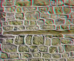 A wall, anaglyph by mrkane27