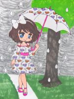 Rainy Day Girl by Mr-Pink-Rose