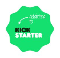 Addicted To Kickstarter Badge by pixelworlds