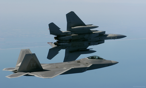 F22 Raptor and F15 Eagle by pilotroom