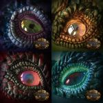 Clay dragon eyes by CassiopeiaArt