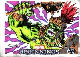 Marvel AP Sketchcard Planet HULK by ScottCohn
