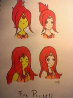 Flame Princess Duo by porcelainROZE