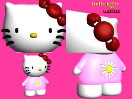 hello kitty 3d views by christ139