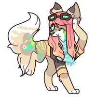 Tropical pilot dog adopt by puqqie
