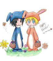SasuNaru - Happy Easter '09 by Monii--Chan