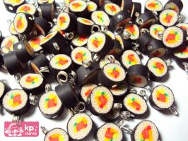 sushi for cellphone straps by KPcharms