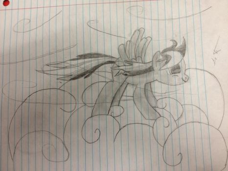 Rainbow Dash in Pencil by benzensulfonic