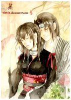 Commission: Hitomi and Itachi by sinvia