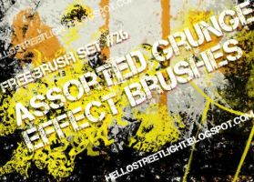 Free Brush Set 26: Assorted Grunge by hellostreetlight