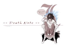 Death Note: L Dessu by Nick-Ian