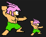 Tombi sprite WIP by Animally