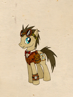 Doctor Whooves went steampunk by FoxInShadow