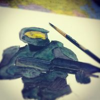 Master Chief Watercolour by Makot12