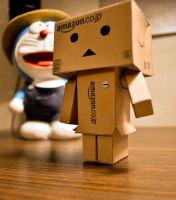 Danbo and Doraemon by cazt1811