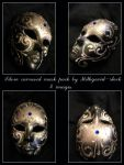 Silver carneval mask pack by Mithgariel-stock