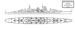 Improved IJN AA Cruiser by Tzoli
