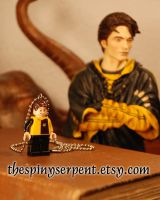 Lego Cedric Diggory Necklace - Custom by kittykat01