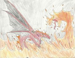 Fire Torrents by ShadowhawkArt