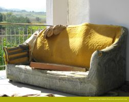 Old house, old sofa B by EternitaMancateStock