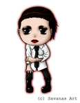 Marilyn Manson Chibi by SavanasArt