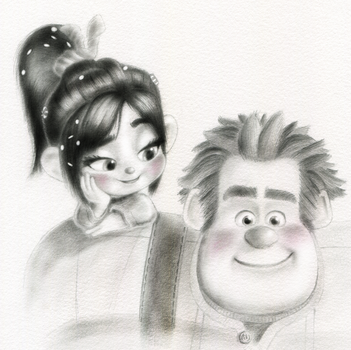 Vanellope and Ralph - Better Together by artistsncoffeeshops