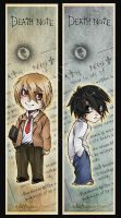 Death Note Bookmarks by luniara