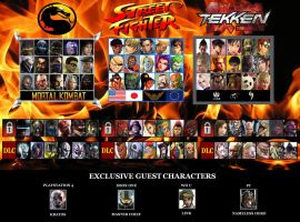 Mortal Kombat X Street Fighter X Tekken by Gery850