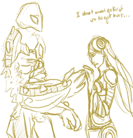 Irelia and Xerath by PetSether