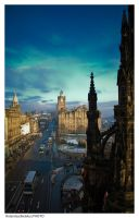 Edinburgh in blue by ronald007