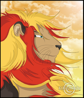 Realistic Pokemon: Pyroar (Male) by KillerSandy