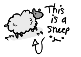 SHEEP O3O by iScribbleKirklandz